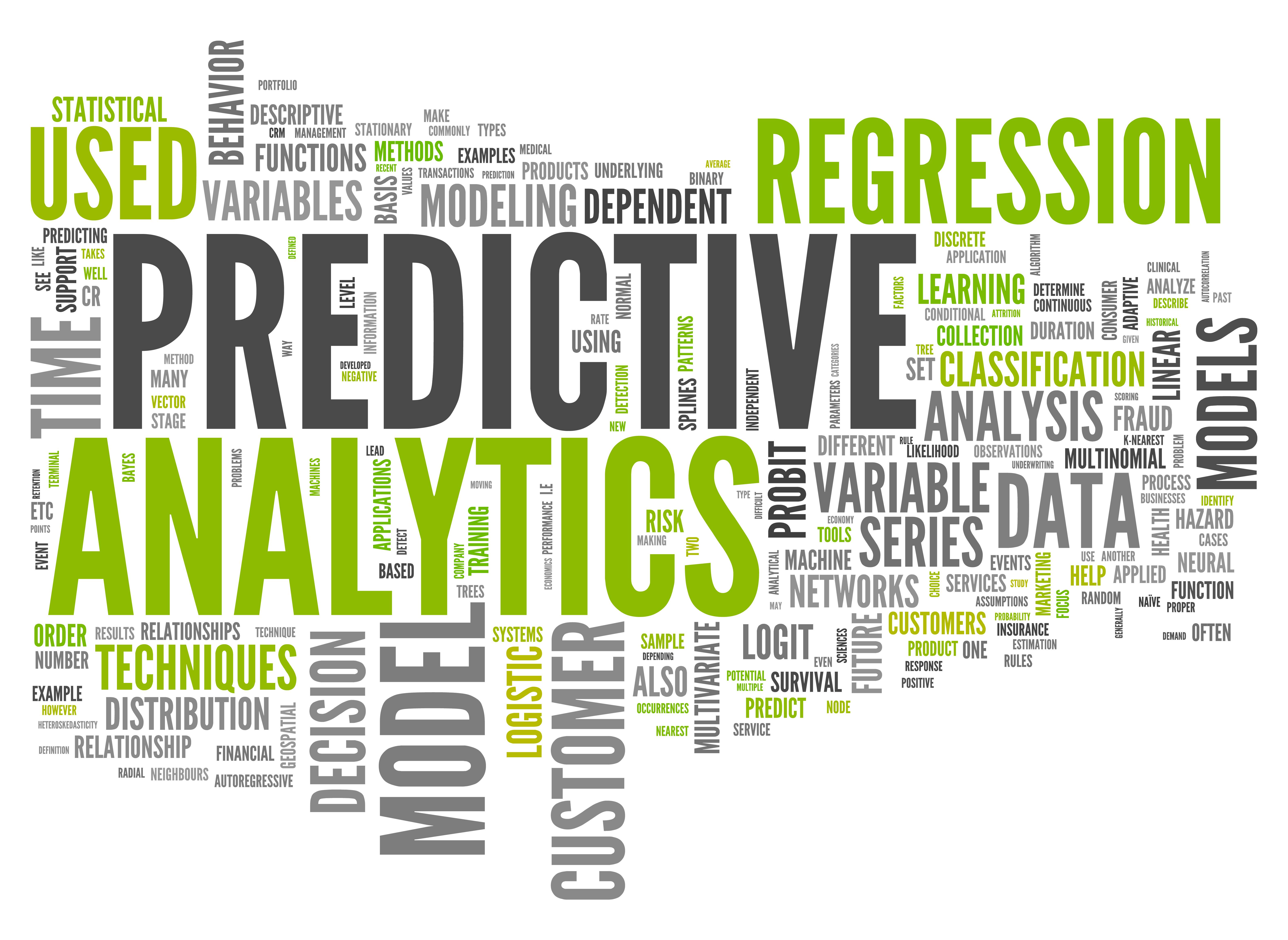 L'analyse prédictive est une zone d'analyse statistique